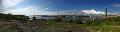 lvsborgsbron panorama (Mabry Campbell) Tags: bridge panorama photography photo image sweden pano gothenburg photograph iphone 2014 lvsborgsbron mabrycampbell
