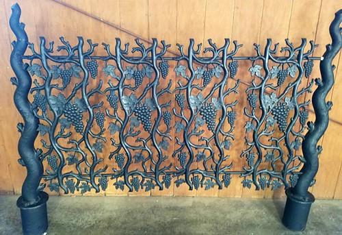 Unique Heavy Cast Iron Ornate Grape Headboard ($504.00)