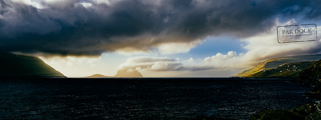 Panoramic view  at Velbastaður - Faroe Islands