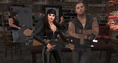 Featuring Biker Mannequins by Riders World (Riders World) Tags: ridersworld secondlife bikerpolice gang guns motorcycle photography prop roleplay rp
