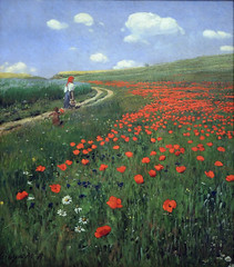 127 Poppies on Meadow by P Szinyei Merse 1902 (Andras Fulop) Tags: monarchy budapest hungary museum exhibition szinyei painting artwork flower field