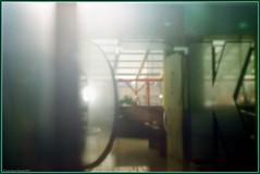 Through the glass. (Ігор Кириловський) Tags: coworkingzone khmelnytski ukraine slr nikon f5 nikkor 50mm f18 afd film kodak colorplus 200 filter bw uvhaze mrcnano xspro digital flash speedlight sb28 slowsync glass 50mmf18d nikonf5