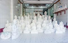 Buddha Shop, Mawlamyine, Myanmar (Burma) (Michael Layefsky) Tags: buddha statues sculpture store shop mawlamyine myanmar moulmein burma