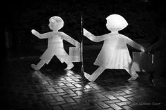 Coming and Going (An Gobán Saor) Tags: comingandgoing sashareid sculpture malta uk migrants pyrmont sydney newsouthwales australia night darlingharbour angobánsaor gobán saor