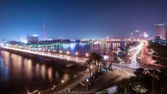 Night in Cairo (http://arnaudballay.wix.com/photographie) Tags: le caire arnaudballayphotographie cairo egypte k10d nuit architecture city cityscape landscape plage sigma1020mm soleil urbain ville lecaire alqahira nightbridge longexposure