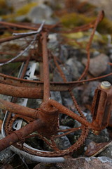 Fade out phase of a lifecycle (J. Roseen) Tags: rust rost cycle cykel bicycle discarded tragic tragiskt history historia eos7dmkii