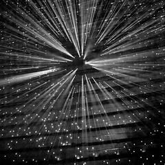 rays of light (khrawlings) Tags: light shining dark black pinholes rays shafts square smoke czech praha prague street installation