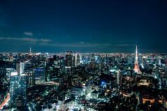 Night Tokyo Skyline (Pop_narute) Tags: tokyo skyline sky night life tower city cityscape light tokyotower urban