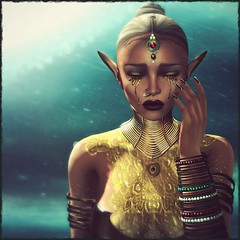 The me that shed these tears... (Rhenu Resident) Tags: kustom9 skinfair as soul aisling izzies lumae tableauvivant