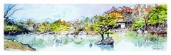 Japon - Japan - 日本 (guymoll) Tags: japon croquis watercolour watercolor sketch aquarelle eau maison