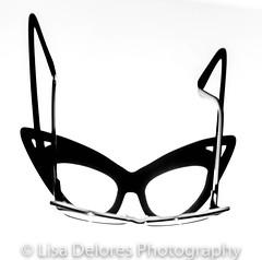 IMG_0205 (Lisa Delores Photography) Tags: bw blackandwhite glasses eyewear glass cateye