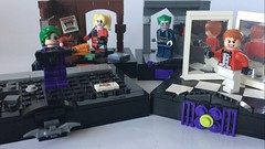 All 4 of my vignettes (PsychoBrick46) Tags: lego moc creation build superheroes dc comics joker vignettes gotham darkknight harleyquinn jerome