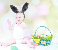 Happy Bunny (kellyhackney1) Tags: happyeaster easter easterbunny love baby babyboy littleboy cute lovehim myworld preciousmoments