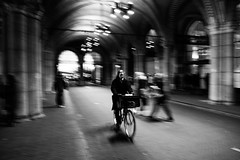 Bike style (photogo.pl) Tags: amsterdam bike street bw
