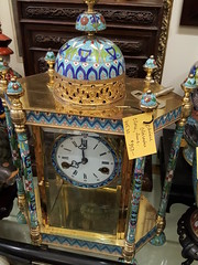 "CHINESE CLOISONNE CLOCK. • <a style=""font-size:0.8em;"" href=""http://www.flickr.com/photos/51721355@N02/33324102152/"" target=""_blank"">View on Flickr</a>"