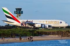 "A6-EET EK A380 16R YSSY  ""Paris Saint-Germain""-7130 (A u s s i e P o m m) Tags: mascot newsouthwales australia au emirates ek airbus a380 syd yssy sydneyairport parissaintgermain"