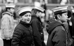 Little sailor (hector_cbs) Tags: sailor kid blackandwhite kids people monochrome monocromatic parade