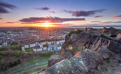 When the Sun Goes Down (Kyoshi Masamune) Tags: edinburgh edinburghcastle sunset ultrawideangle wideangle cokinfilters cokinnd4 zomeind1000 zomei nd1000 panorama cityscape citypanorama kyoshimasamune uk scotland arthursseat holyroodpark holyrood firthofforth forth longexposure oldtown newtown caltonhill