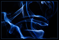 blue smoke (sure2talk) Tags: bluesmoke smoke smokeart blue nikond7000 nikkor85mmf35gafsedvrmicro flash speedlight sb900 offcamera snoot abstract