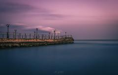 Before Nightfall (Alex Apostolopoulos) Tags: jetty longexposure twilight dawn pier seascape sky sea sunset smooth blue water cyprus sony sonya6000 ilce6000 sigma sigma30mmf14dcdn haidafilter manfrottobefree
