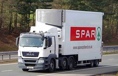 MAN - SPAR Supermarket (scotrailm 63A) Tags: lorries trucks supermarkets spar