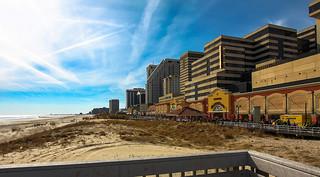 In Atlantic City waterfront.
