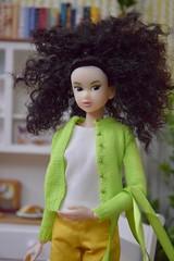 CCS- White Lion (Girl Least Likely To) Tags: momoko ccs closeclippedsheep whitelion sunnylingerie curlyhair curls blackhaired dollhouse dollscene dollroom diorama asianfashiondolls japanesetoys dolls miniatures toys