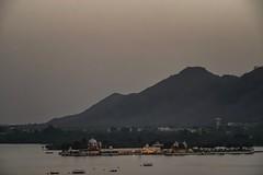 Sunset over Udaipur (nicklaborde) Tags: 500px mist sky landscape lake sunset water boat beach travel boats evening mountain seashore outdoors dusk lumix watercraft panasonic india udaipur gx7 lumixlounge