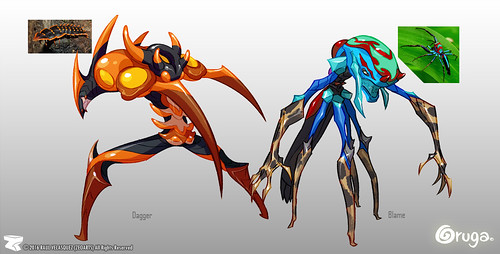 Character designer - illustration 77 | Oruga | Dagger | Blame