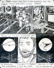 The Lives of Pythagoras 5 (Chris Murtagh) Tags: art linedrawing pen pythagoras thales mathematics geometry greece philosophy biography ancient