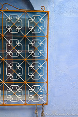 A Window Grate in Chefchaouen's Medina (adventurousness) Tags: bluecity chefchaouenthebluepearl thebluecity blue chaouen chefchaouen morocco travel windows grate medina