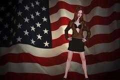 Patriotic pinup (bsurma) Tags: pinup bsurma people americana bill surma billsurma portrait
