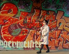 Color Chaos (Mondmann) Tags: graffiti jägermeister color colorful chaos wall itaewon seoul korea southkorea rok republicofkorea asia eastasia woman koreanwoman korean walking streetphotography strolling contrast mondmann canonpowershotg7x