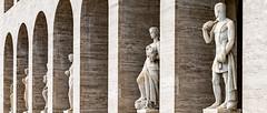 Roma / Rome; E.U.R. (drasphotography) Tags: roma rome rom eur architektur statue column italy italia drasphotography nikon d810 nikkor2470mmf28 travel travelphotography reise reisefotografie architecture nikkor geometric geometry geometrisch
