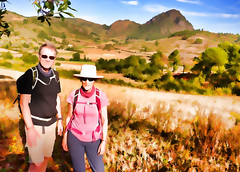 The trekkers! Setting off into another glorious landscape. (Neville Wootton Photography) Tags: burma glenniswootton holidays impressions kalaw lightroom myanmar nevillewootton onestoptraveltours topazlabs trekking