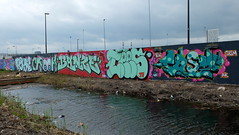 Graffiti (oerendhard1) Tags: graffiti streetart urban art vandalism illegal rotterdam zuid surch pose crook banze banse tees casm cyber