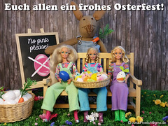 Easter 2017 (alegras dolls) Tags: easterbunny barbie easter ostern paintedeggs chicken ostereier 16scale fashiondoll diorama
