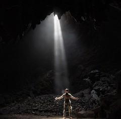 Good Friday (Jim Fox) Tags: goodfriday beammeup caver lightbeam naturallight caving cave nostrobistinfo removedfromstrobistpool seerule2