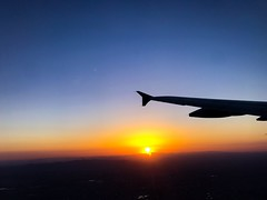 Leaving on a jet plane.... (Beegmnphoto) Tags: phoenix flying orange iphone sky sunset plane