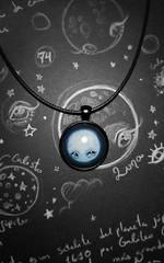 Colgante Luna (Wilhem Briceño Viez) Tags: necklace art original colgante unicornio luna unicorn moon draw illustration design jewerly