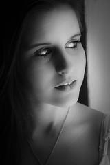Miss T (Ranford Stealth) Tags: fujixpro1 fuji1855f284 beauty beautiful woman portrait windowlight mood emotion fremantle blackwhite bw mono monochrome