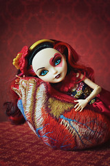 Heart Attack (EliMalone) Tags: mattel everafterhigh royal lizzie hearts red heart anatomy plush toy spring unsprung alice wonderland heads off