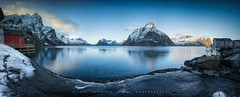 ● reine ● lofoten ● norway ● (Oliver Jerneizig) Tags: oliverjerneizig oliverjerneizigde wwwoliverjerneizigde norwegen norway norge lofoten north wilderness landschaft landscape outdoor canon 6d canon6d reine hamnoy winter mountains lake berge pano panorama blauestunde bluehour
