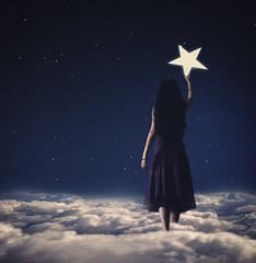 The Night Sky Is Hers (kbetart) Tags: night nightsky stars starry girl portrait surrealphotography surrealart surrealism