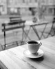 Coffee (borishots) Tags: coffee coffeetime coffeeshop coffeelover coffeemat coffeecup coffeemug bokeh bokehlicious bokehwhore monochromatic monochrome bw wood woodentable chairs fujifilm fuji fujinon fujifilmxe2 fujinon23mmf14 f14 wideopen