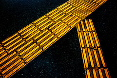 Intersecting in Space (lesliegill) Tags: 2017 abstract april japan outerspace tiffendfx urbanexploration yellow nikon1v2