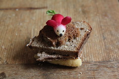 ...favorite place for little mice (virginhoney) Tags: mouse bread kitchen food fun playing radish pepper nose
