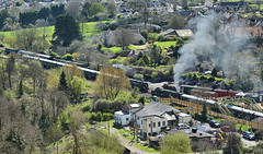 Bulleid Pacifics at Corfe Castle (davids pix) Tags: 34092 cityofwells 34070 manston bulleid pacific southern preserved steam locomotive swanage railway gala corfe station 2017 02042017