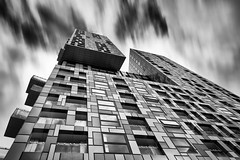Checkered Life (Sean Batten) Tags: london england unitedkingdom gb blackandwhite bw architecture city urban nikon d800 1424 building eastlondon docklands lines southquay isleofdogs