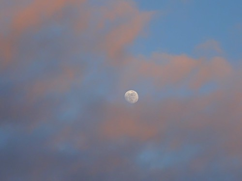 Moon and soft clouds